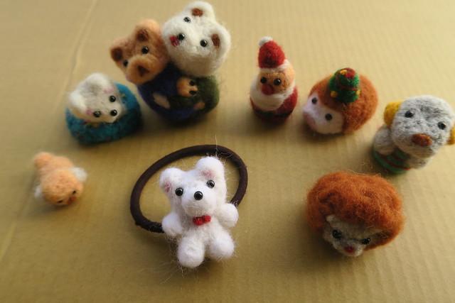 戳戳羊毛氈:小狗、熊熊髮飾、聖誕老公公(16.4ys)