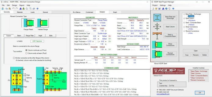 Working with ASDIP Steel 5.0.5 full license