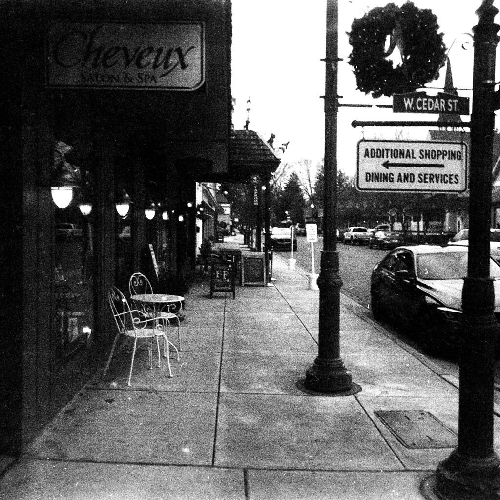 Down Zionsville's main street