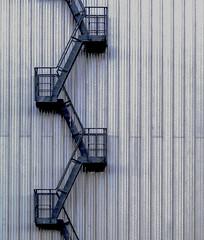 Fire escape, RAF Museum, Cosford