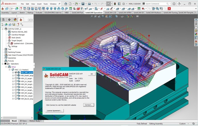 Working with SolidCAM 2020 SP4 Multilang for SolidWorks 2021 full license