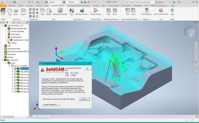 Working with InventorCAM 2020 SP4 for Autodesk Inventor 2021 full license