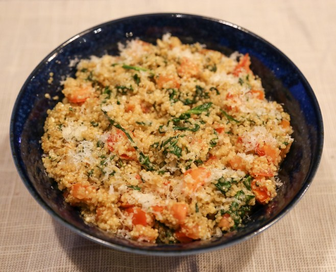 Tomato & Basil Quinoa Risotto #AncientHarvest #MySillyLittleGang