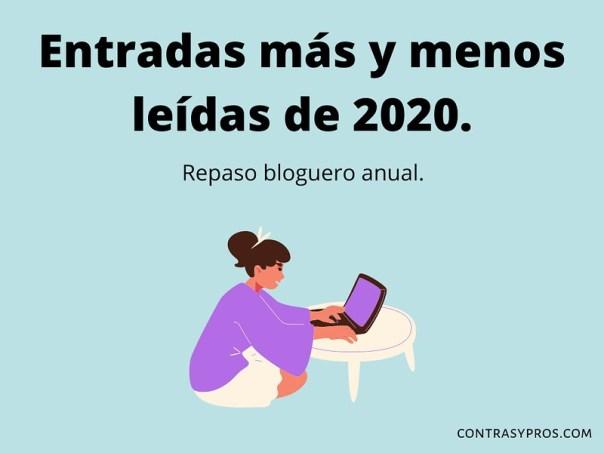 Entradas más y menos leídas de 2020