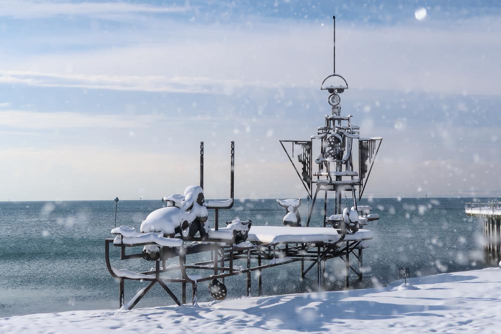 Schnee Spaziergang Friedrichshafen am Bodensee Januar 2021 hyyperlic-49