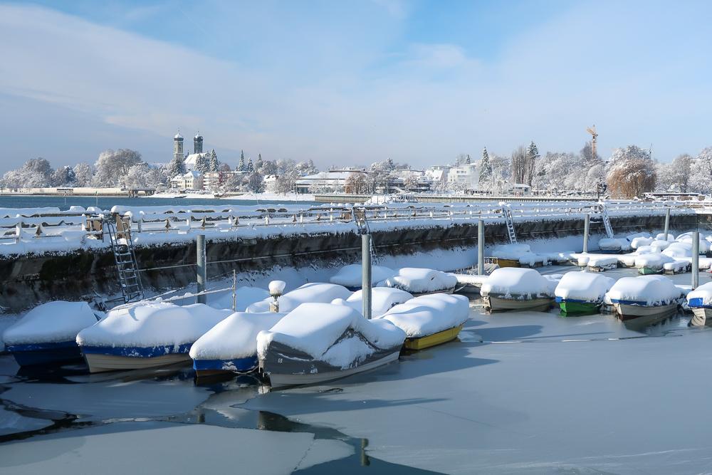 Schnee Spaziergang Friedrichshafen am Bodensee Januar 2021 hyyperlic-23