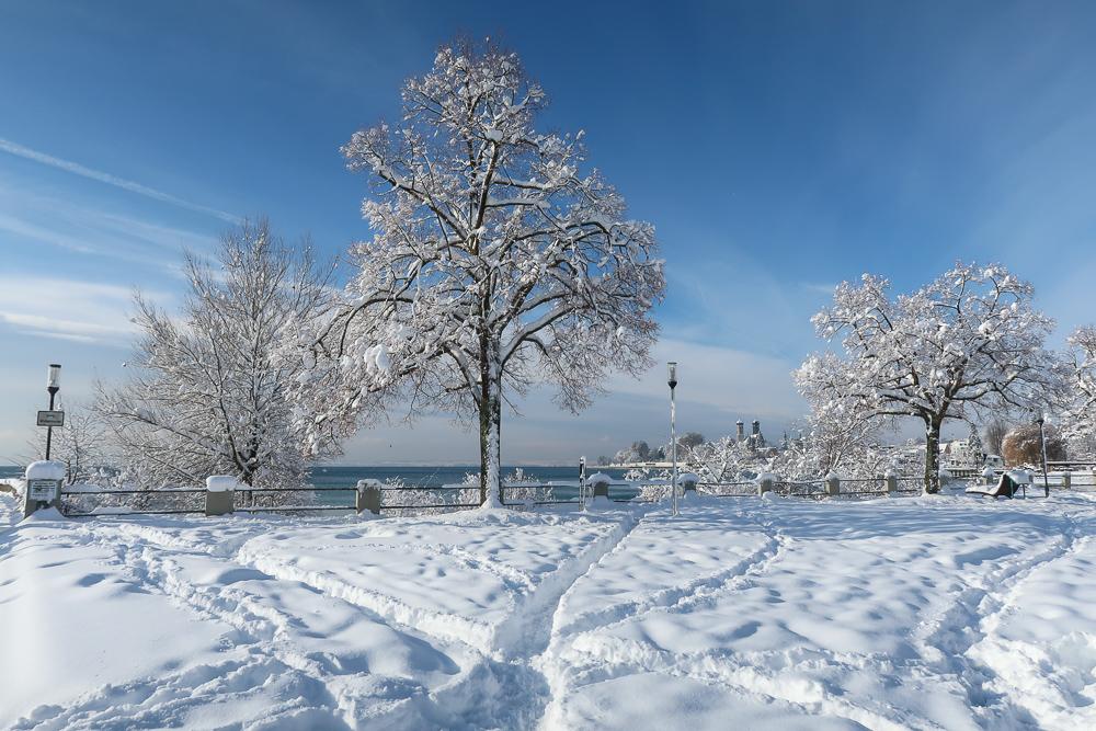 Schnee Spaziergang Friedrichshafen am Bodensee Januar 2021 hyyperlic-33