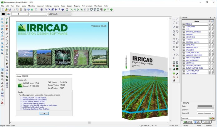Working with Lincoln Agritech IRRICAD v15.06 full