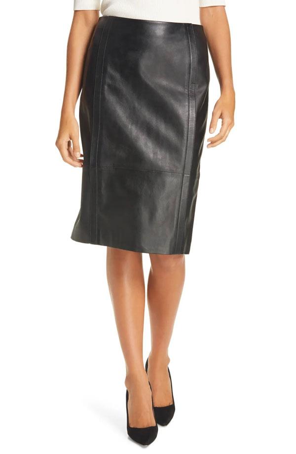 hugo-boss-leather-pencil-skirt