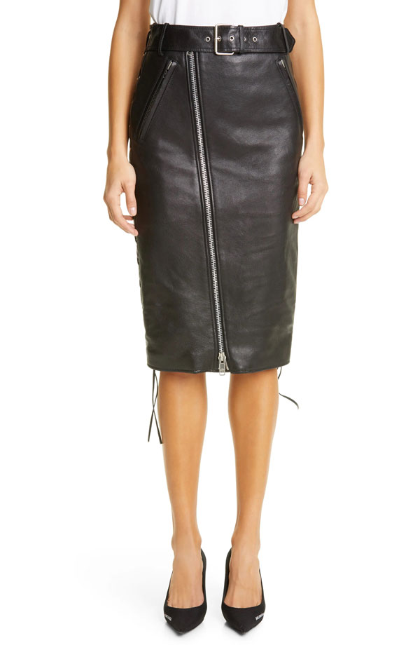 balenciaga-lace-up-leather-skirt-pencil