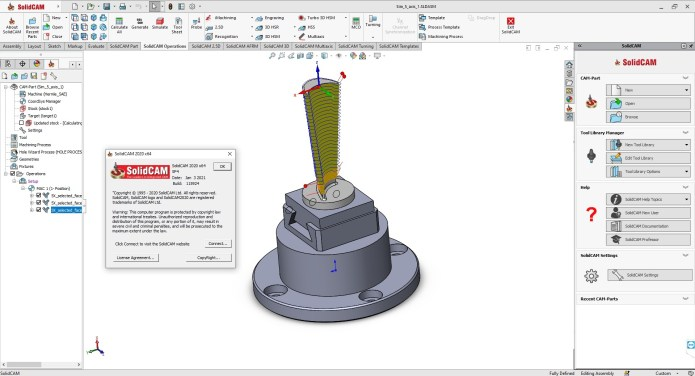 Working with SolidCAMCAD 2020 SP4 full