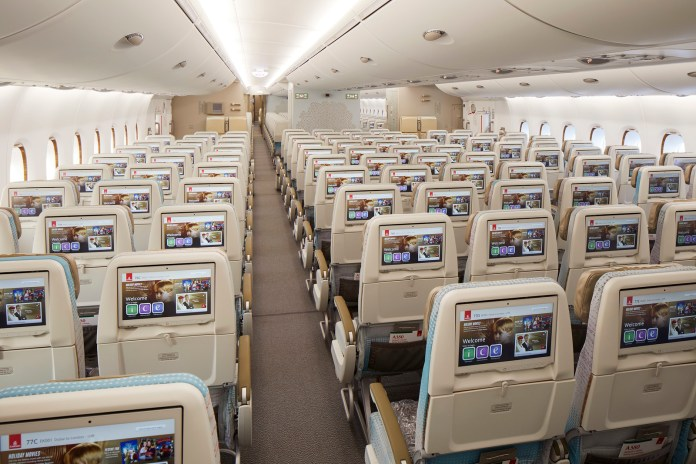 Refreshed A380 Economy Class (backview)