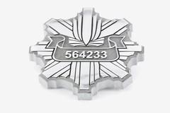 emblemat z aluminium