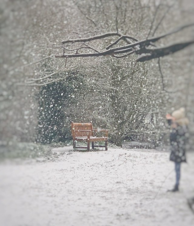 Snow comes to London