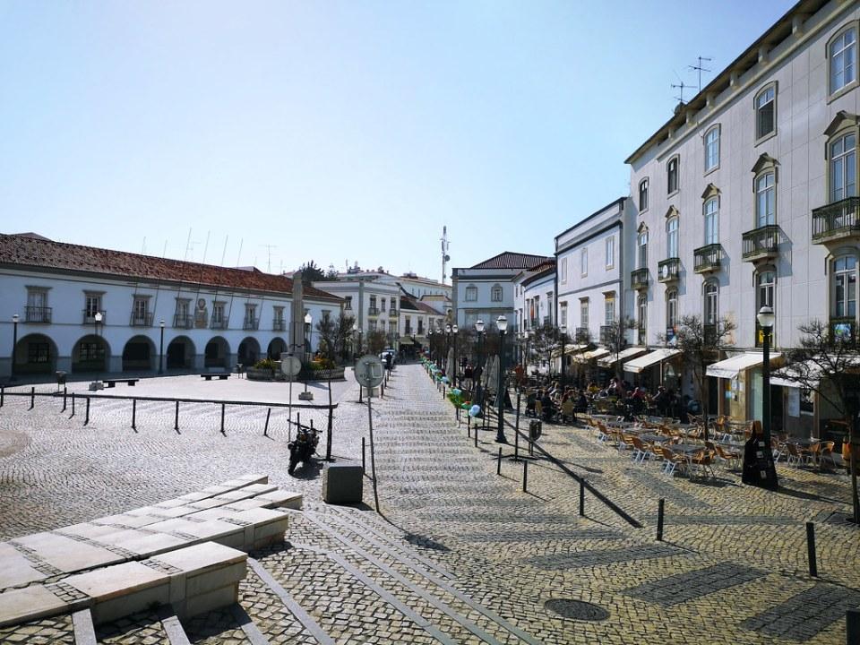 ayuntamiento plaza de la Republica Tavira Algarve Portugal