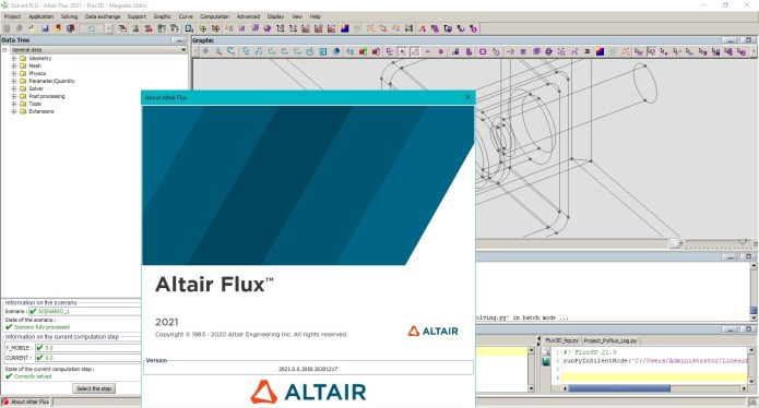 Working with Altair Flux 2021.0 full license