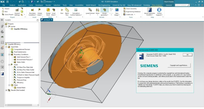 Working with Siemens Simcenter FloEFD 2020.2.1 full license