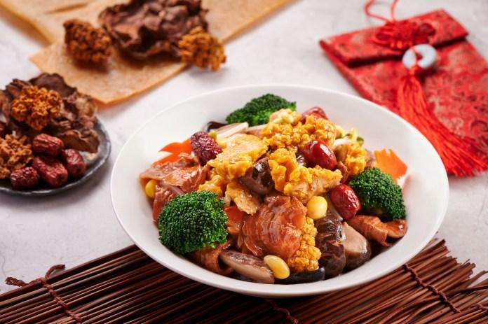 WM Red 8 - Braised fungus, eggplants, matsutake mushrrom, bean curd skin and glass noodles