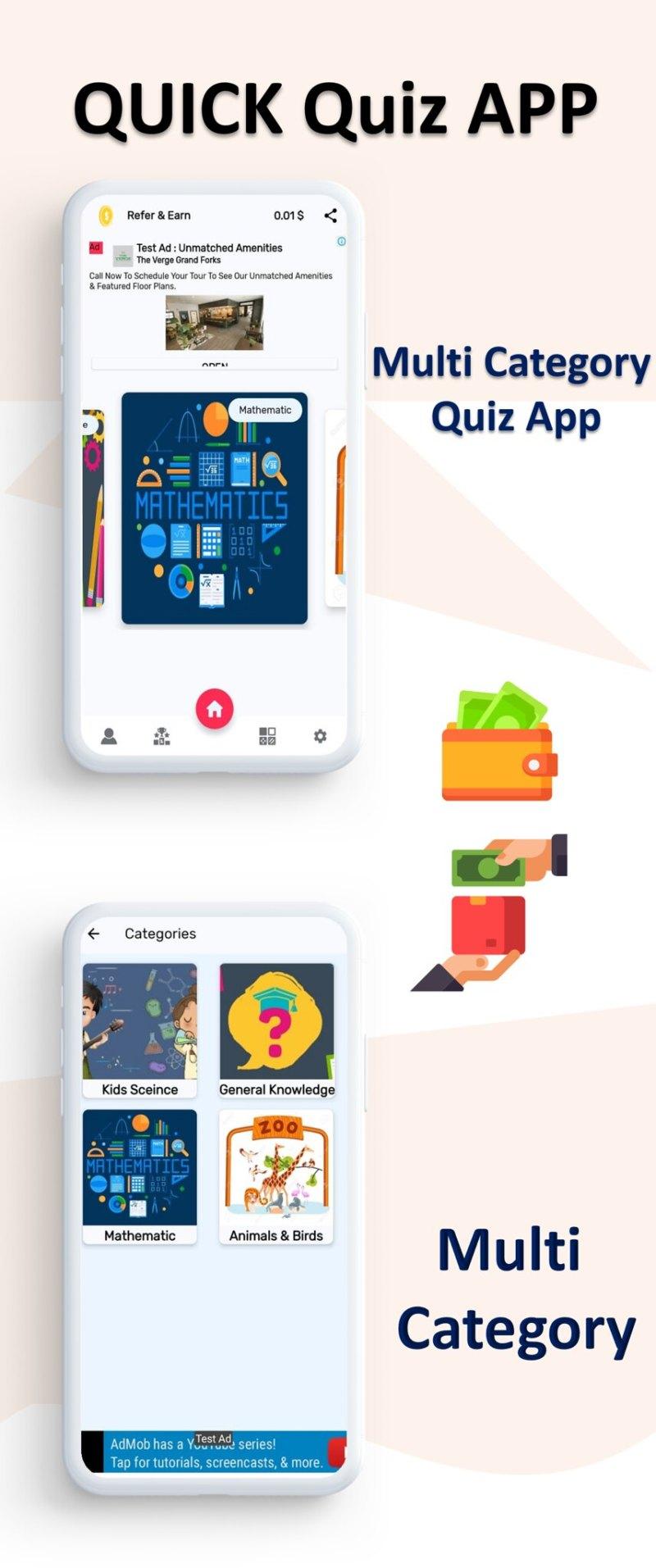 Quiz App   Quiz App   Multi Category   Amob Ads   Facebook Ads   Admin Panel - 4