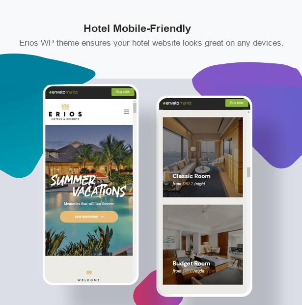 Erios Hotel WordPress Theme Mobile Optimized Hotel