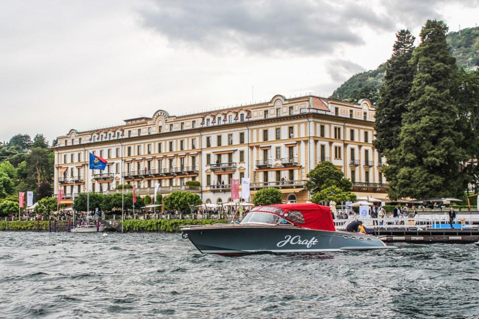 yacht in front of Villa d Este Cernobbio, Lake Como