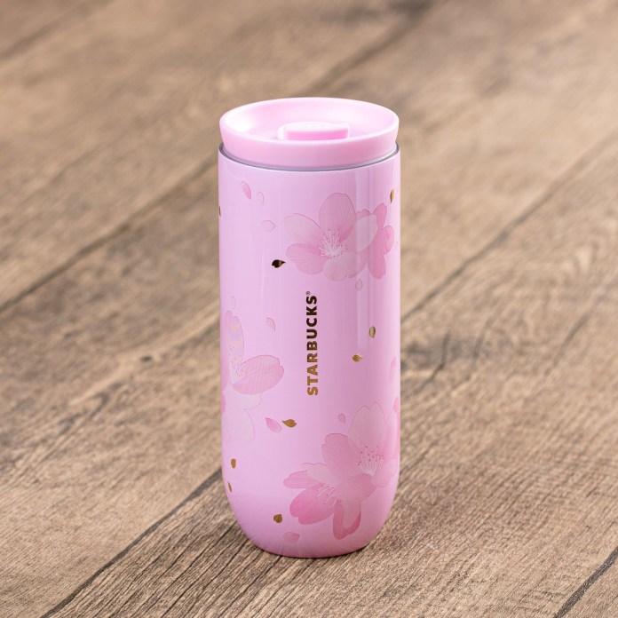 Starbucks 12oz Pink Full Blossom Stainless Steel Tumbler