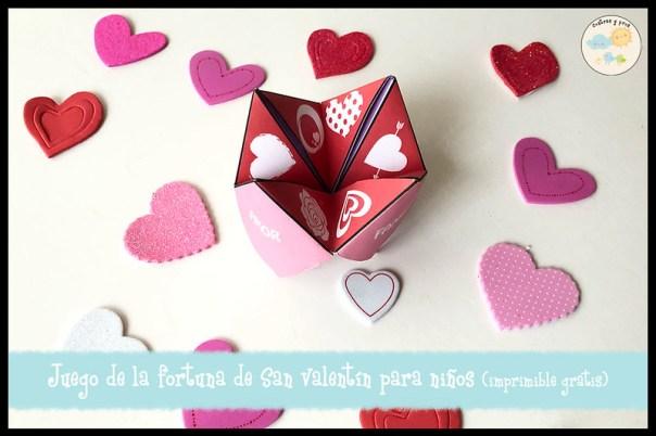 Juego de la fortuna de San Valentín para niños (imprimible gratis)