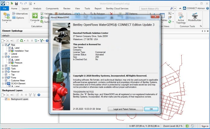 Working with OpenFlows WaterGEMS CONNECT Edition 10.03.02.75 full