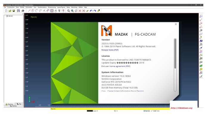 Working with MAZAK FG-CADCAM 2020 full license