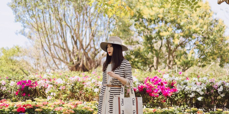 Chloe最新爆款Woody Tote中尺寸燕麥色 + 大安森林公園繡球花