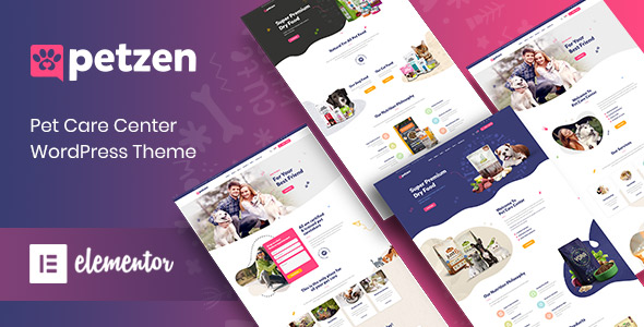 Petzen Pet Care Service WordPress Theme Themelexus