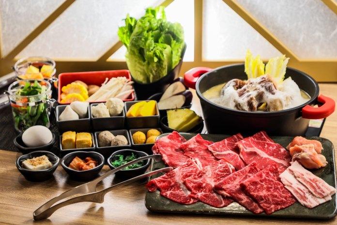 牛舞 Gyumai 涮涮鍋拼盤午市套餐 (可加配牛骨Cappuccino濃湯)