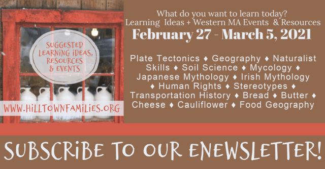 Graphic with learning ideas for the week of February 27-March 5, 2021