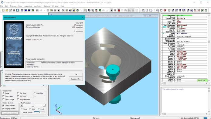 machining with CAMWorks WireEDM Pro 2021 SP0 for SolidWorks 2020-2021 full