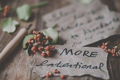 Live more intentionally