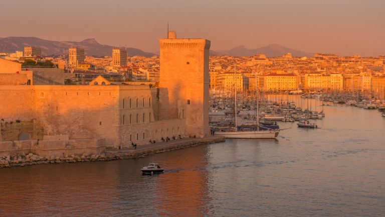 Marseille at sunset