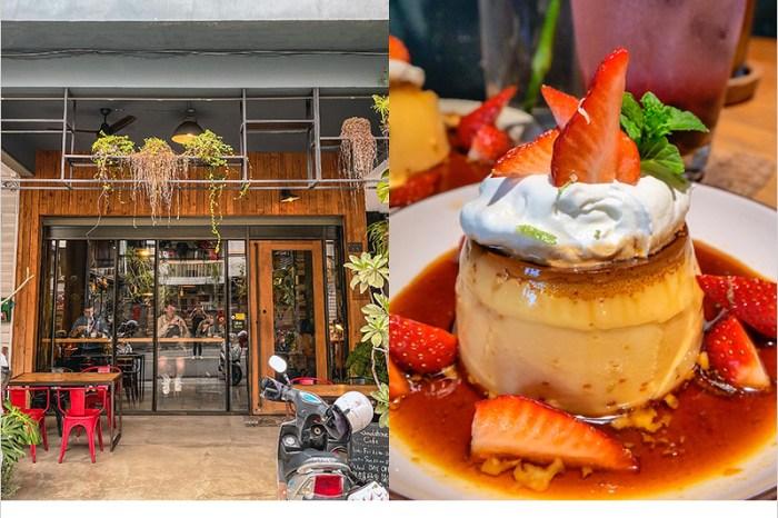Roundabout Café | 台中西區老宅建築的英式小酒館咖啡店,草莓布丁甜香軟嫩好吃,飲品也好喝,環境有氛圍好拍照。
