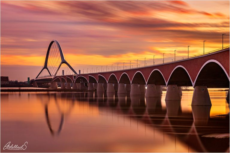 Sunset at the bridge, Nijmegen (explored)