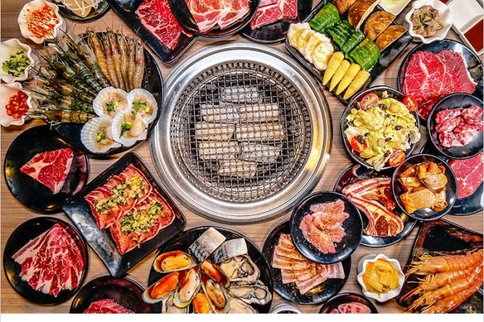 台中羊角炭火燒肉吃到飽(文心店)   高CP值燒肉店!食材新鮮豐盛,安格斯沙朗牛排、生猛牡蠣、現撈泰國蝦、鹽蔥牛舌,啤酒暢飲,通通任你吃喝到飽。