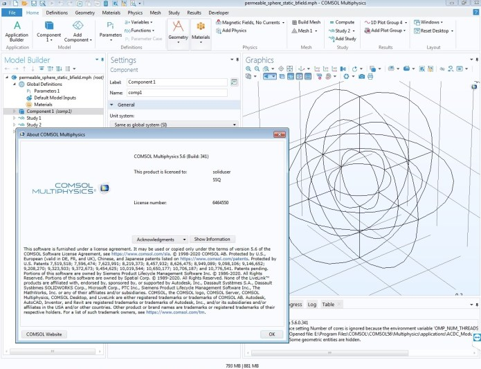 Working with Comsol Multiphysics 5.6.0.341 full