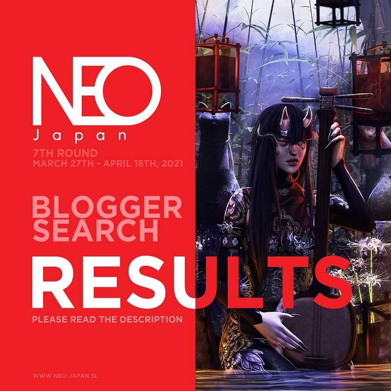 NEO-JAPAN SL BLOGGER LIST MARCH/APRIL 2021