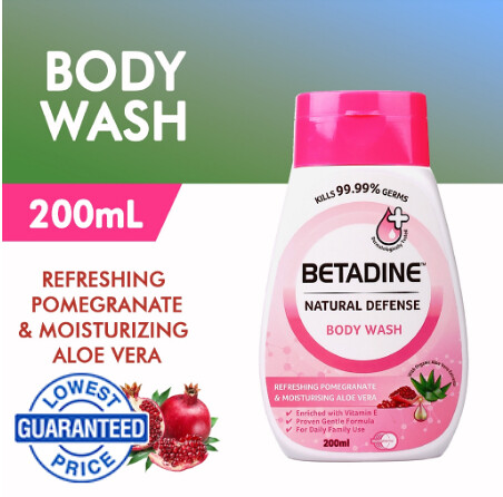 BETADINE Natural Defense Body Wash Pomegranate