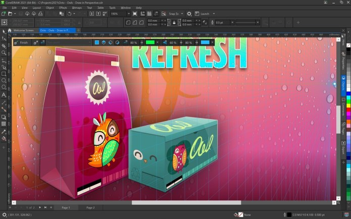 Working with CorelDRAW Graphics Suite 2021 full