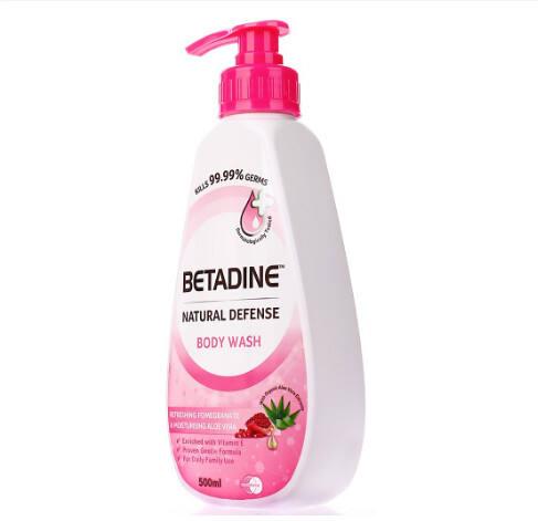BETADINE Natural Defense Body Wash Pomegranate 500ml
