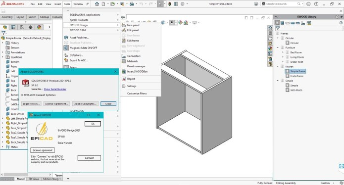 Working with SOLIDWORKS SWOOD Design 2021