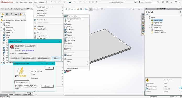 Working with SOLIDWORKS SWOOD CAM 2021