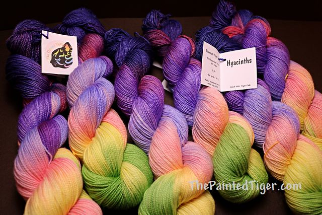 Hyacinth Titanium Tiger Twist Sock Yarn - March 2021 Tiger Club