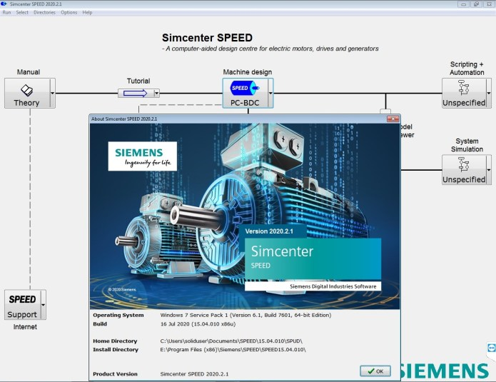 Working with Siemens Simcenter SPEED 2020.2.1 (15.04.010) full