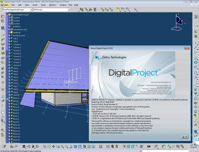Working with Gehry Technologies Digital Project V1,R5 (Catia.V5R27) Win64 full