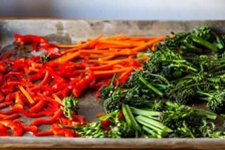 begin roasting the vegetables